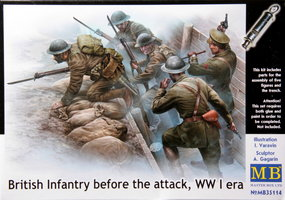 Masterbox British Infantry before the attack WO1 1:35