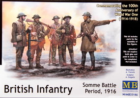 Masterbox British Infantry,Somme Battle 1916  1:35