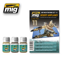 Ammo by Mig Air Weathering set  Desert Airplanes