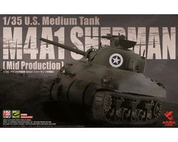 Asuka M4A1 Sherman U.S.Medium Tank(Mid Production) 1:35