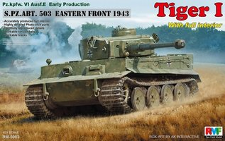Rye Field Model Pz.kpfw.VI Ausf.E Early Production w/Full Interior Tiger I   1:35