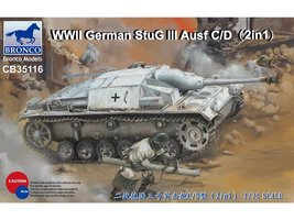 Bronco  German StuG III Ausf C/D with 75mm 37/L24 & 75mm 40/L48 (2in1) 1:35
