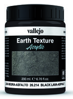 Vallejo Water Stone & Earth; Earth Texture Black Lava Asphalt 200ml