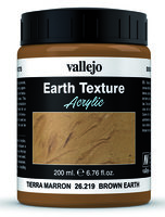 Vallejo Water Stone & Earth; Earth Texture Brown Earth 200ml