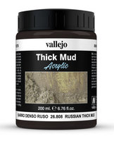 Vallejo Water Stone & Earth;   Russian Thick Mud 200ml