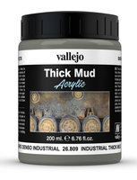 Vallejo Water Stone & Earth;   Industrial Thick Mud 200ml