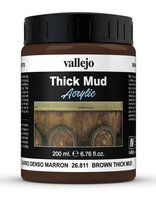 Vallejo Water Stone & Earth: Brown Thick Mud 200ml