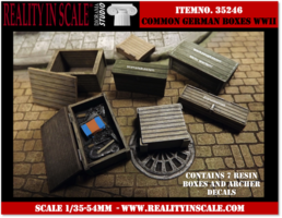 Reality in Scale Common German Boxes 1:35