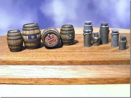 Reality in Scale Beer Barrels&Milk Churns  1:35