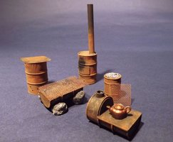 Reality in Scale Improvised Drum Stoves 1:35
