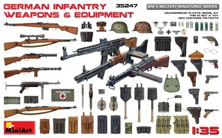 Miniart German Infantry Weapons & Equipment Set  1:35