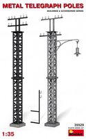 Miniart Metal Telegraph Poles  1:35