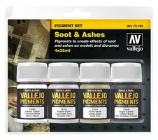 Vallejo pigmentset  Soot&Ashes