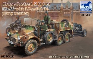 Bronco Krupp Protze L2H 143 Kfz.69 with 3,7cm PAK36 1:35