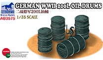 Bronco  German WWII 200l Oil Drums 1:35