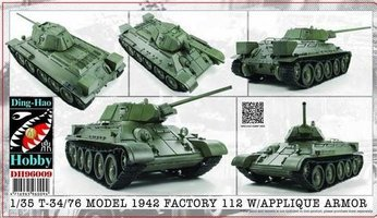 Ding-Hao Hobby(AFV Club) T-34/76 Model 1942&Applique Armor