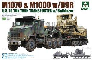Takom M1070 Tank Transporter w/D9R Bulldozer  1:72