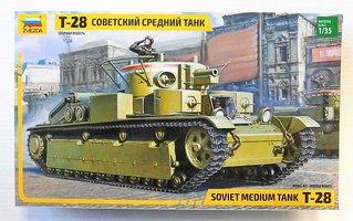 Zvezda T-28 Soviet Medium Tank 1:35