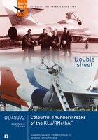 Dutch Decal Colourful Thunderstreaks of the KLu/RNetAF  1:48