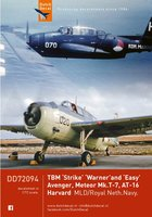 Dutch Decal TBM Avenger/Meteor Mk.T-7,Noorduyn UT-6 1:72