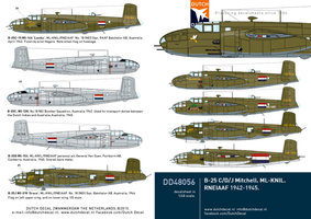 Dutch Decal B-25C/D/J Mitchell.ML-KNIL 1:48