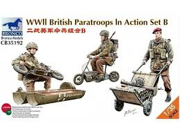 Bronco WWII British Paratroops In Action 1:35