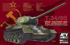 AFV  T-34/85 1944 Factory 183  1:35