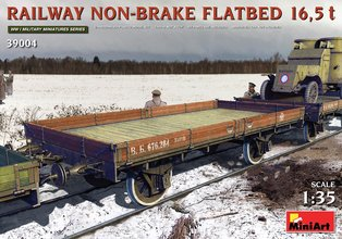 Miniart  Railway Non-Brake Flatbed 16,5t 1:35