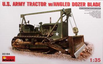 Miniart  U.S Army Tractor w/Angeld Dozer Blade 1:35