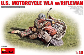 Miniart   Motorcycle WLA w/Rifleman 1:35
