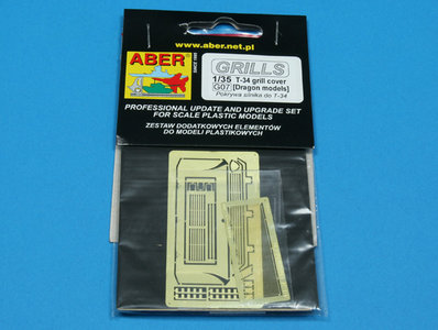 Aber T-34 Grill Cover  1:35