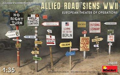 Miniart Allied Road Signs WW2  1:35