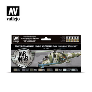 Vallejo-Soviet/Russian colors Combat Helicopters-71601