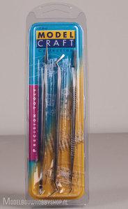 Model Craft set van 3 carvers/spatels van roestvrij staal
